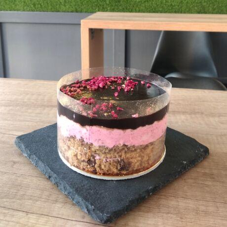 Málnahabos mini torta