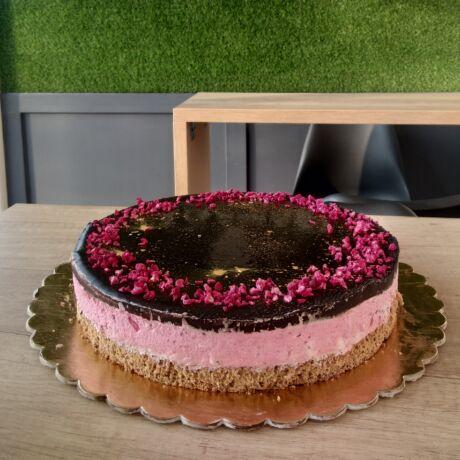 Málnahabos torta